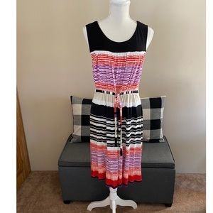 Daisy Fuentes Striped Drawstring Waist Dress